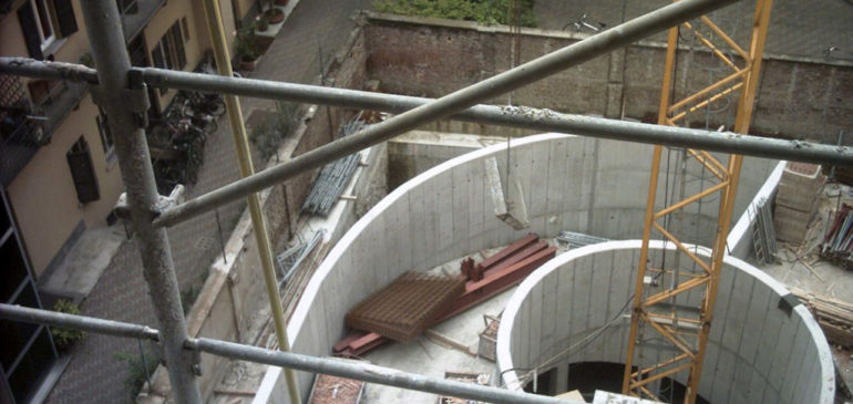 Progetto, DL, collaudo edificio via Sciesa 8 Milano (Tekne s.p.a.-Residence Giannino s.r.l.).