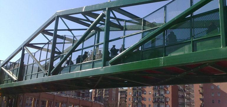 Progetto ponte ciclopedonale Corsico (Studio arch. Fedele)